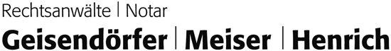 Logo Rechtsanwälte und Notar Geisendörfer Meiser & Henrich